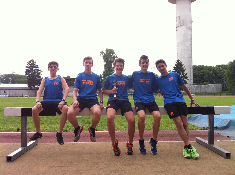 i cadetti Olivieri, Calgaro, Paglino, Bogliano e Alfano